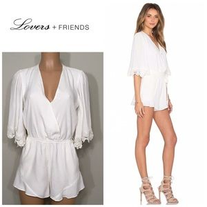 New. Reese off white romper. NWT
